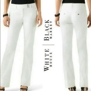 WHBM White Legacy Modern Lined Boot Cut Pants